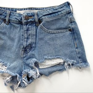 Melville Brandy Melville Jean Distressed Shorts